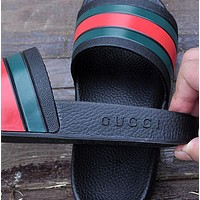 GUCCI Fashion Women Men Casual Sandals Slipper Shoes Black I