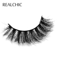 REALCHIC Mink Lashes 3D Mink Eyelashes Natural False Eyelashes 1 pair Handmade Fake Eye Lashes Extension for Beauty Makeup
