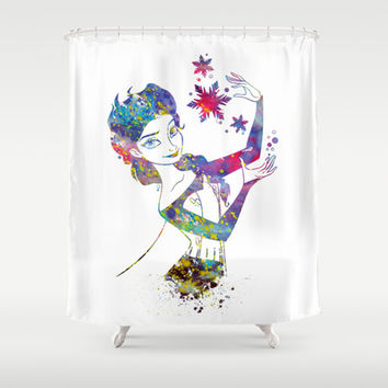 Queen Elsa from Frozen Shower Curtain by Bitter Moon