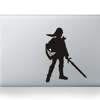 Link Zelda---Macbook decal Macbook sticker Mac decal Mac sticker  Mac decal Macbook pro decal Macbook air decal ipad decal iphone decal