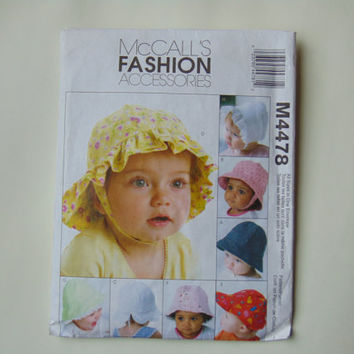 McCall's Fashion Accessories Baby Hats Sewing Pattern M4478