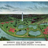 Vintage Map of Washington DC District of Columbia 1888  County