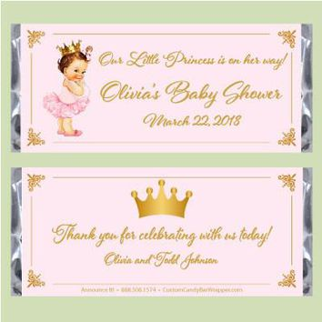 Vintage Princess Baby Shower Candy Bar Wrapper