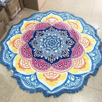 Mandalas Tapestry Totem Lotus ~Wall Hanging ~Sandy Beach Towels Yoga Mat
