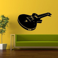Wall Decor Vinyl Sticker Room Decal Art Music Electric Acoustic Guitar 1037