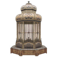Rare and Important Monumental Birdcage With Seating