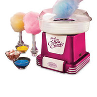 Nostalgia Electrics™ Retro Series Hard & Sugar-Free Cotton Candy Maker - Raspberry