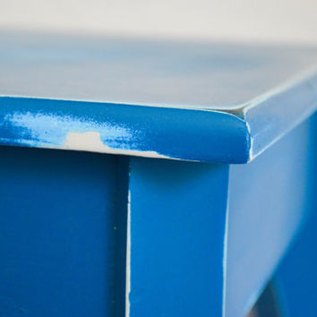 Turquoise blue console table by FQ Studios, blue table, sofa table, hallway table, foyer table, entryway table, distressed, upcycled