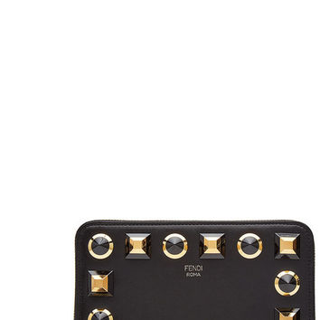 Embellished Leather Purse - Fendi | WOMEN | US STYLEBOP.COM