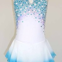 CUSTOM MADE TO FIT - STUNNING AND BEAUTIFUL ICE SKATING  DRESS