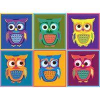 Color Study Owls Vinyl Wall Decal Set