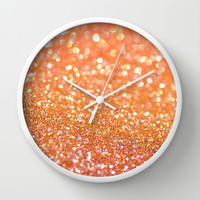 Apricot Honey Wall Clock by Lisa Argyropoulos