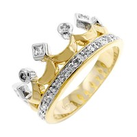 Two Tone Crown Ring Size 9