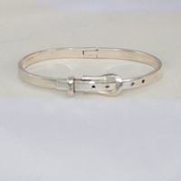 """Taxco Mexico Sterling """"Buckle"""" Bangle Bracelet"""