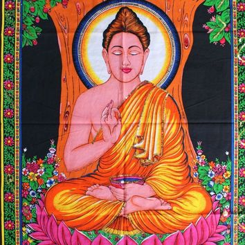 The Buddha Yoga Boho Wall Tapestry