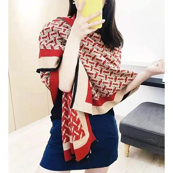 Burberry Autumn And Winter New Fashion Letter Print keep Warm Scarf Women