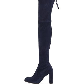 Stuart Weitzman Hiline Suede Over-The-Knee Boot