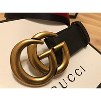 DCCK Gucci Men Belt 120 cm Double G buckle