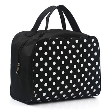 2018 Fashion Lady Organizer Multi Functional Cosmetic Storage Dots Bags Women Makeup Bag with Pockets Toiletry Pouch Necessaire