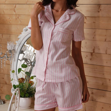 100% Cotton Summer Casual Pajamas for Women