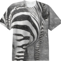 Zebra Sketch T-Shirt created by Blooming Vine Design | Print All Over Me