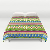 African Unicorn pattern Duvet Cover by That's So Unicorny