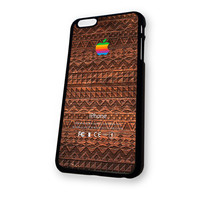 Wood Aztec Aplle Logo iPhone 6 Plus case