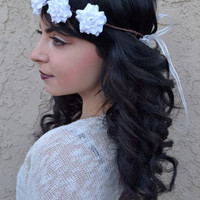 White Rose Crown #D1006