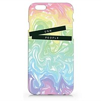 UGH People Iphone 6 case, Iphone 6 Case Plastic Hard White Phone Cover For Iphone 6 Case- Emerishop (AH503)