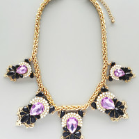 Lavender Gala Statement Necklace