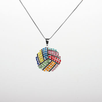 Colorful Volleyball Necklace for Girls