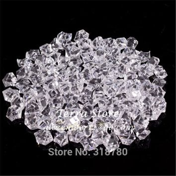 100PCS Multri-color 2.2CM Fish Tank Acrylic Stones