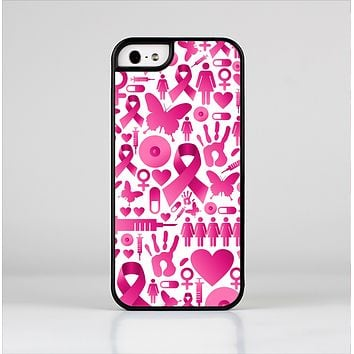 The Pink Collage Breast Cancer Awareness Skin-Sert Case for the Apple iPhone 5/5s