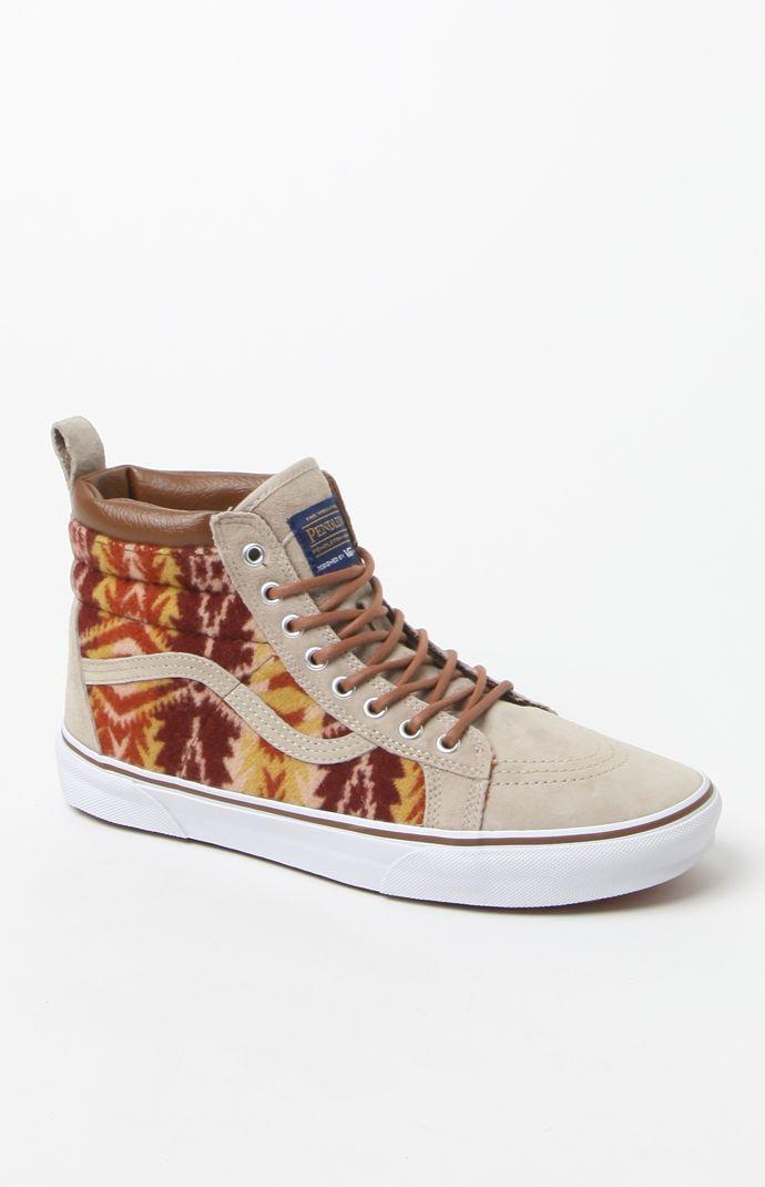 90a6325b0a Vans - Pendleton SK8-Hi MTE Tan Shoes - from PacSun