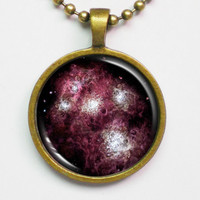 Galaxy Necklace - Farthest Galaxy, A1689-zD1, Baby Galaxy -Astronomical Necklace