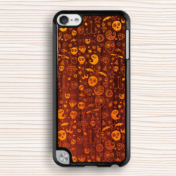 Halloween gift ipod case,spirit ipod 5 case,demon ipod 4 case,art wood grain ipod 5 touch case,cool design ipod touch 4 case,art touch 4 case,touch 5 case