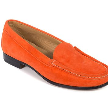 Church's Women's Tangerine Orange Suede Nelly Loafers