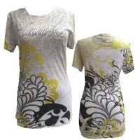 University of Iowa Women's Fashion Tee - TigerHawk Black/Gold Design