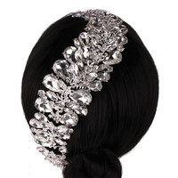 Simone Sparkling Crystal Hair Comb Headpiece