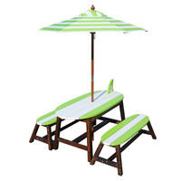 Winland - Surfboard Outdoor Table & Bench Set - KYW-11390A