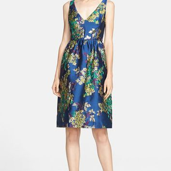 Women's Erdem V-Neck Floral Jacquard Dress,