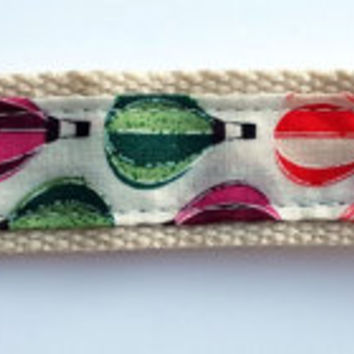 Webbing wrist strap key ring. Wristlet key fob. Ideal teachers gift. Fabric keyring