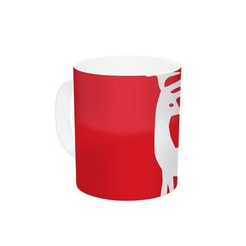 "Miranda Mol ""Reindeer Red"" Holiday Ceramic Coffee Mug"