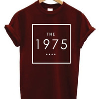 The 1975 logo Shirt maroon T-shirt