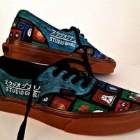 Studio Ghibli Custom Vans Sneakers featuring characters from Spirited Away and Howl's