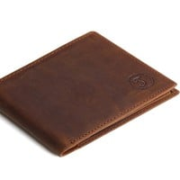Mens Cow Genuine Leather Wallet With Coin Pocket