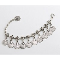 Turkish Coins Charm Bracelet