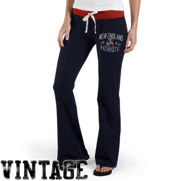 47 Brand New England Patriots Ladies Power Stretch Pants - Navy Blue