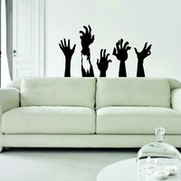 Zombie Hands Decal Sticker Vinyl Wall Art Kid Boy Girl Teen