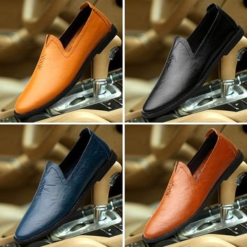 Leather Shoes Italian Craft Manual Men's Fashion Cool Shoes Cowhide Shoe Business Leather Shoes